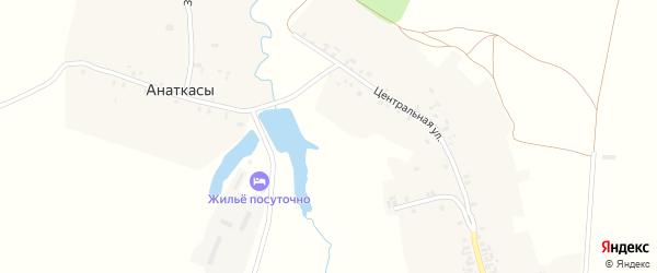 Полевая улица на карте деревни Шатракасы с номерами домов