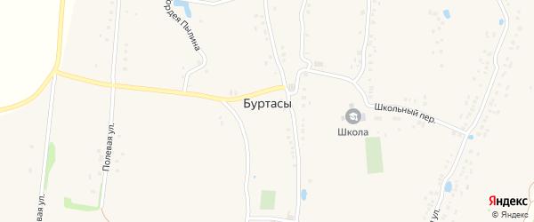 Заречная улица на карте деревни Буртасов с номерами домов