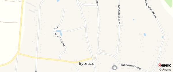 Улица 50 лет Чувашии на карте деревни Буртасов с номерами домов