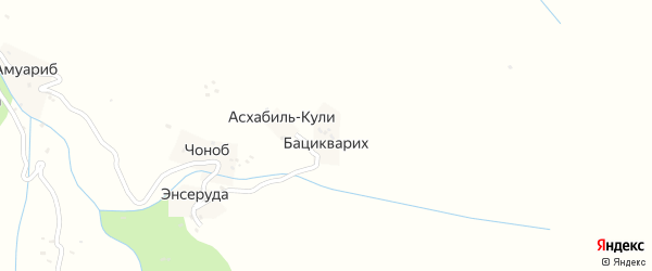 Бацилкорихская улица на карте хутора Бациквариха с номерами домов