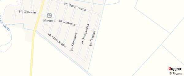 Улица Газуева на карте села Чонтаула с номерами домов