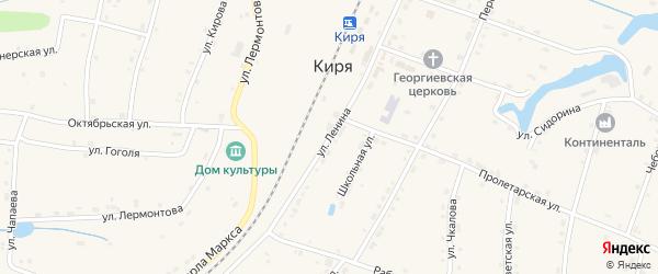 Улица Ленина на карте поселка Киря с номерами домов
