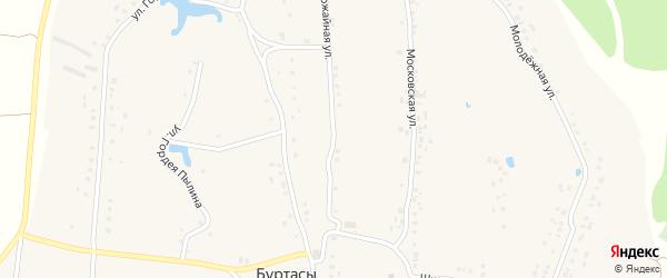 Урожайная улица на карте деревни Буртасов с номерами домов
