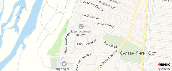 Кооперативная улица на карте села Султанянгиюрта с номерами домов
