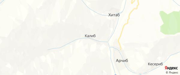Карта села Калиба в Дагестане с улицами и номерами домов