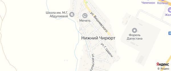 Присулакская улица на карте села Нижнего Чирюрта с номерами домов