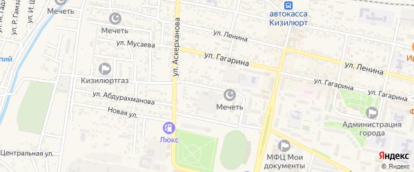 Улица Г.Цадаса на карте Кизилюрта с номерами домов