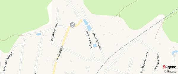 Лежневая улица на карте поселка Киря с номерами домов