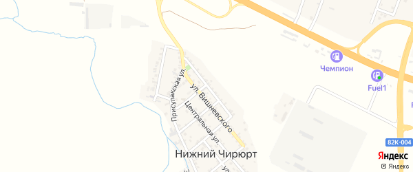 Подгорная улица на карте села Нижнего Чирюрта с номерами домов