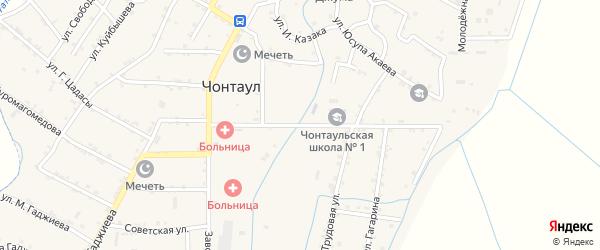 Улица Гимбатова на карте села Чонтаула с номерами домов