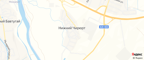 Карта села Нижнего Чирюрта в Дагестане с улицами и номерами домов