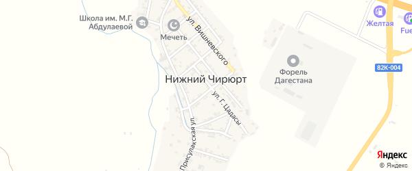 Улица Суворова на карте села Нижнего Чирюрта с номерами домов