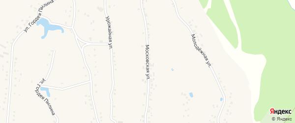 Московская улица на карте деревни Буртасов с номерами домов
