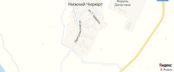Молодежная улица на карте села Нижнего Чирюрта с номерами домов