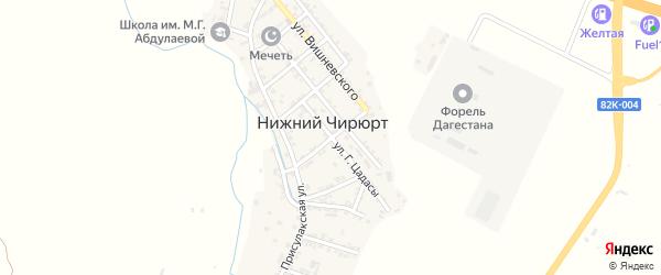 Советская улица на карте села Нижнего Чирюрта с номерами домов