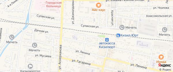 Почтовый переулок на карте Кизилюрта с номерами домов