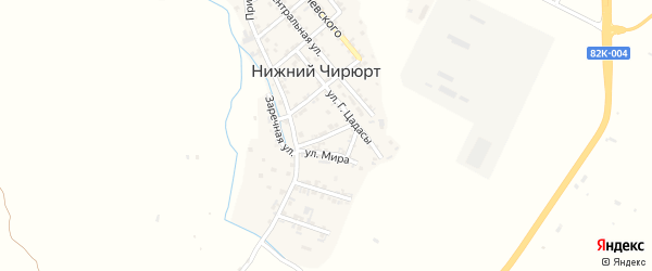 Улица Алиева на карте села Нижнего Чирюрта с номерами домов