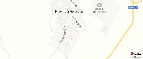 Улица Мира на карте села Нижнего Чирюрта с номерами домов