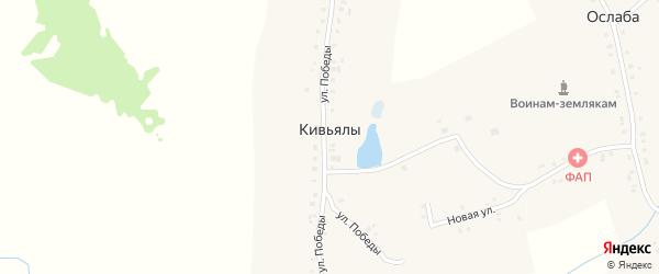 Улица Победы на карте деревни Кивьялы с номерами домов