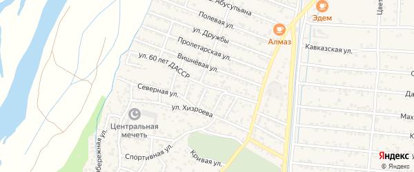 Улица 60 лет ДАССР на карте села Султанянгиюрта с номерами домов