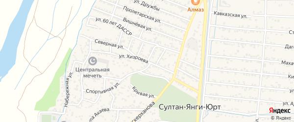 Улица Хизроева на карте села Султанянгиюрта с номерами домов
