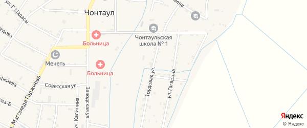 Трудовая улица на карте села Чонтаула с номерами домов
