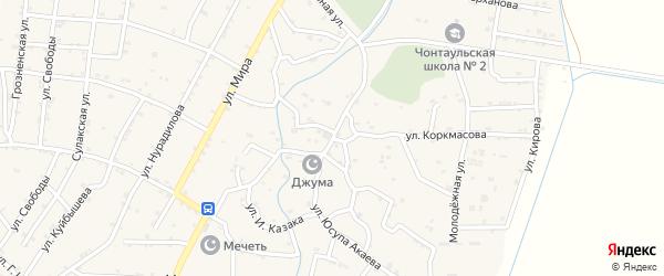 Улица Ю.Акаева на карте села Султанянгиюрта с номерами домов