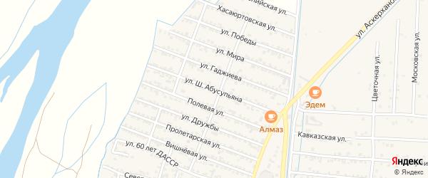 Улица Ш.Абусупьяна на карте села Султанянгиюрта с номерами домов