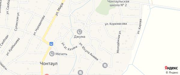 Улица Салаватова на карте села Чонтаула с номерами домов