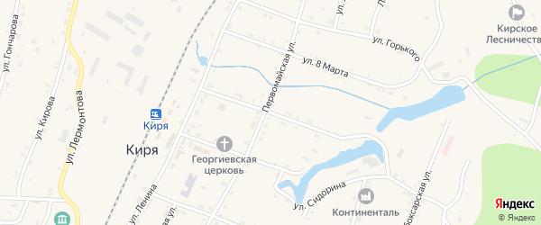 Комсомольская улица на карте поселка Киря с номерами домов