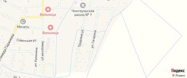 Улица Гагарина на карте села Чонтаула с номерами домов