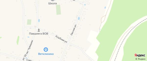 Лесная улица на карте деревни Буртасов с номерами домов