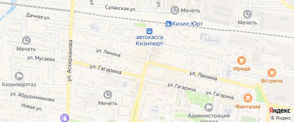Станционный переулок на карте Кизилюрта с номерами домов