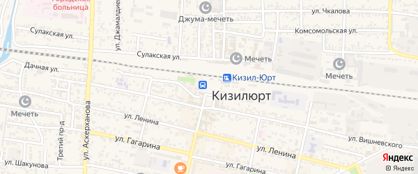 Улица Площадь Героев на карте Кизилюрта с номерами домов