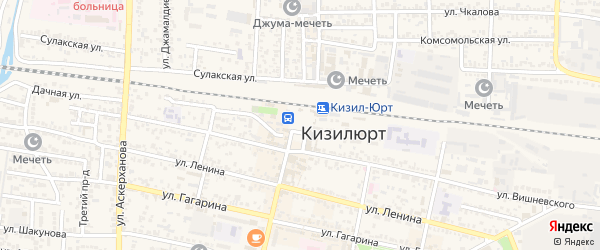 Станционная улица на карте Кизилюрта с номерами домов
