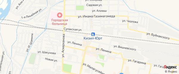 СТ Химик на карте Кизилюрта с номерами домов