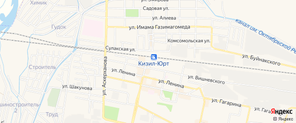 СТ Гудок на карте Кизилюрта с номерами домов