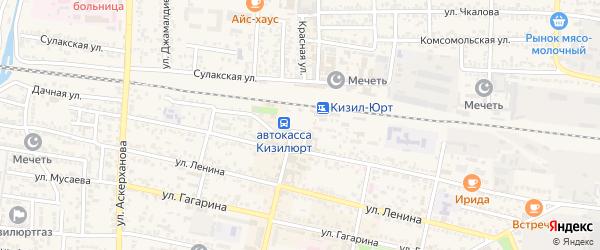 Почтовая улица на карте Кизилюрта с номерами домов