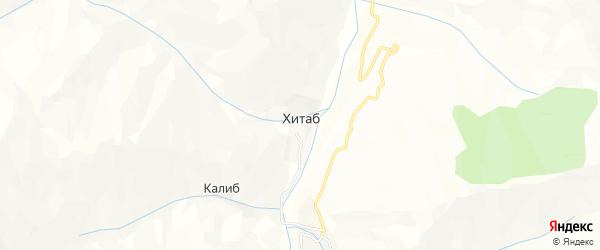 Карта села Хитаба в Дагестане с улицами и номерами домов