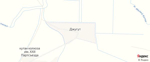 Карта села Джугута в Дагестане с улицами и номерами домов