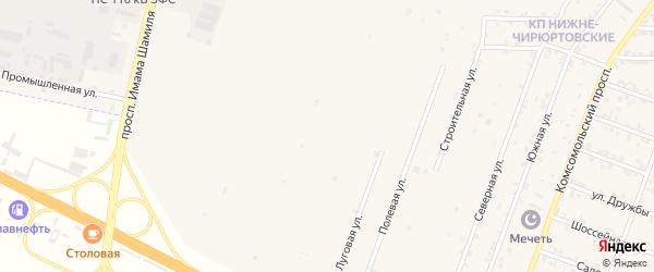 Дачная улица на карте Буйнакска с номерами домов