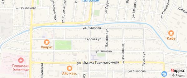 Садовая улица на карте Кизилюрта с номерами домов