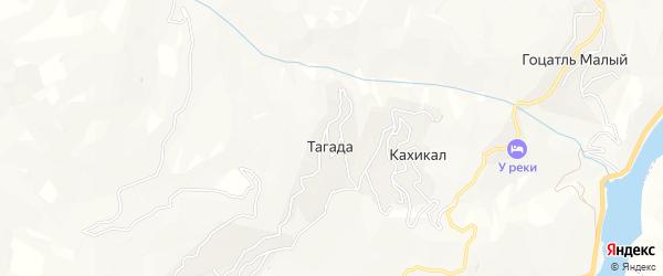 Карта села Тагады в Дагестане с улицами и номерами домов