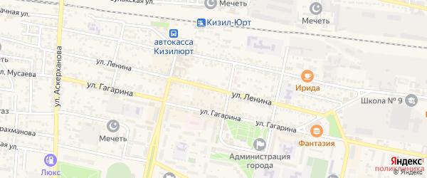 Улица Ленина на карте Кизилюрта с номерами домов