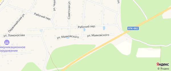 Улица Маяковского на карте поселка Киря с номерами домов