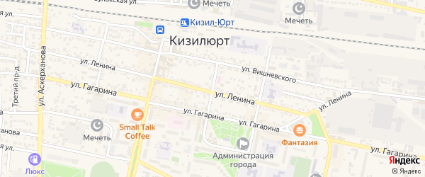 Переулок Абубакарова на карте Кизилюрта с номерами домов