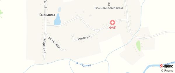 Новая улица на карте деревни Кивьялы с номерами домов