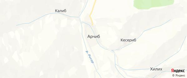 Карта села Арчиба в Дагестане с улицами и номерами домов