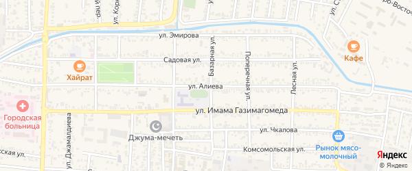 Улица Алиева на карте Кизилюрта с номерами домов