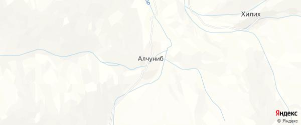 Карта села Алчуниба в Дагестане с улицами и номерами домов